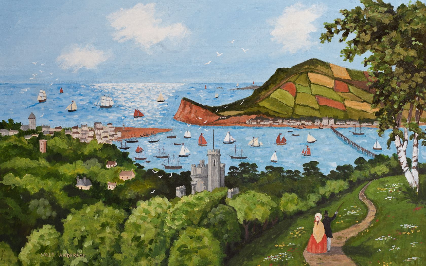 painting of teignmouth